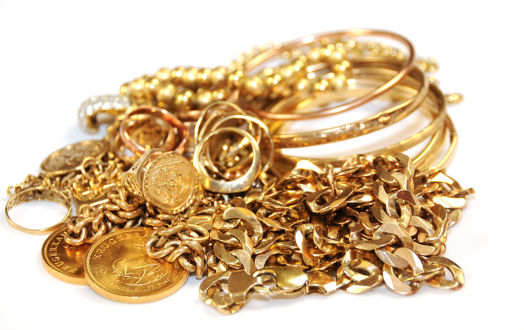 We pay cash for gold jewellery